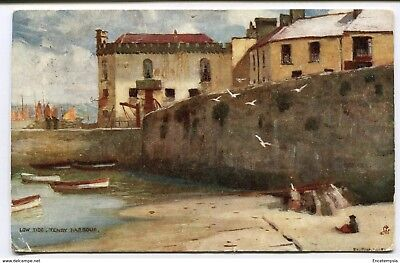 CPA-Carte postale-Royaume Uni - Low Tide - Tenby - Harbour - 1907 (CP2205)