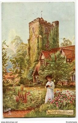 CPA-Carte postale-Royaume Uni - Picture Essex - Theydon Garnon Church - 1907