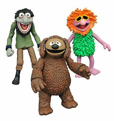 Die Muppets Rowlf, Crazy Harry, Mahna, Diamond Toys Action Figuren Set Neu / Ovp
