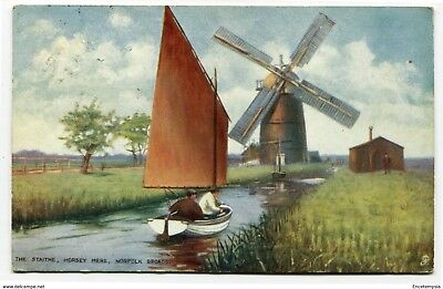 CPA-Carte postale-Royaume Uni -The Staithe - Horsay Mere - Norfolk Broads - 1907