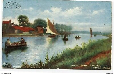 CPA-Carte postale-Royaume Uni - Fishing Contest at Horning - Norfolk Broad -1907