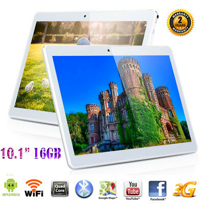 """16GB 10.1"""" Zoll IPS TABLET PC Netbook QUADCORE ANDROID 6 2*SIM/CAM 3G+WIFI GPS"""