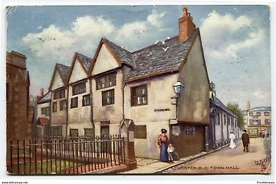 CPA-Carte postale-Royaume Uni - Leicester - Old Town Hall (CP2243)