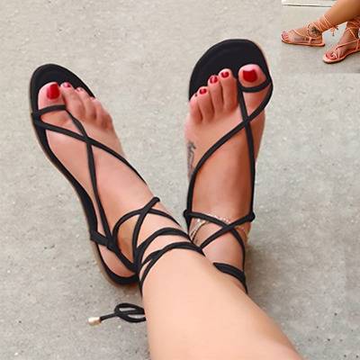Women Gladiator Sandals Strappy Flip Flops Ladies Summer Beach Casual Shoes Size