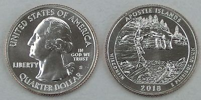 USA Quarter America the Beautiful - Apostle Islands S 2018 unz.