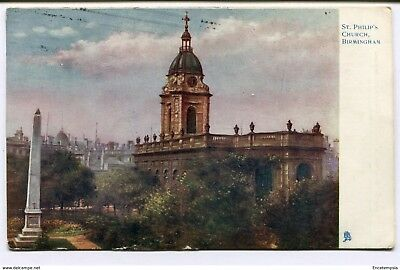 CPA-Carte postale-Royaume Uni -Saint Philip's Church - Birmingham -1907 (CP2260)