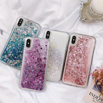 Bling Quicksand Hot Love Heart Soft Phone Case Cover Back Skin For Various Phone