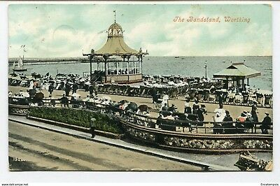 CPA-Carte postale-Royaume Uni -The Bandstand - Worthing - 1907 (CP2263)