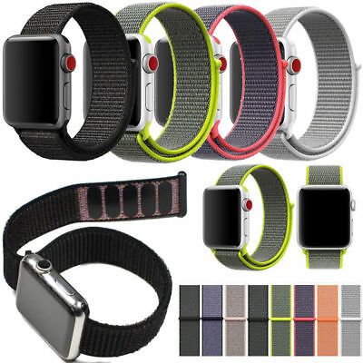 Nylon Woven Sport Loop Bracelet Watch Band Strap For Apple Watch 38mm 42mm US KY