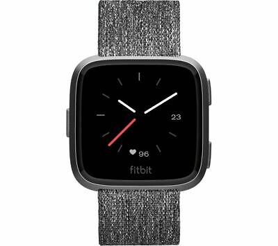 FITBIT VERSA SPECIAL Edition Smartwatch - Woven Strap, Charcoal - Currys