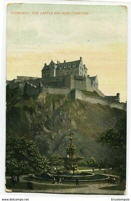 CPA-Carte postale-Royaume Edinburgh-The Castle and Ross Fountain - 1907 (CP2270)