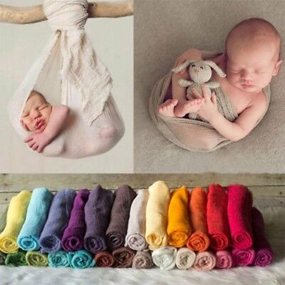 Newborn Baby Toddler Wrap Knit Photography Photo Props Stretch Swaddle Blanket