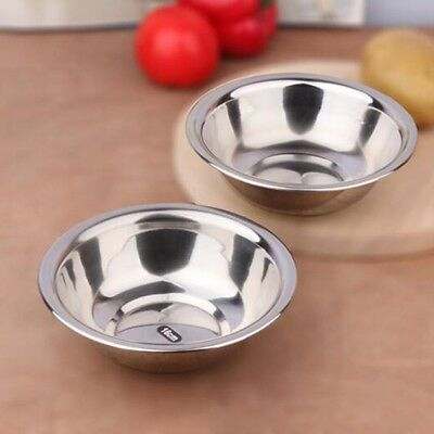 Stainless Steel Metal Deep Mixing Bowls Caterer Salad Spaghetti Pasta New UK