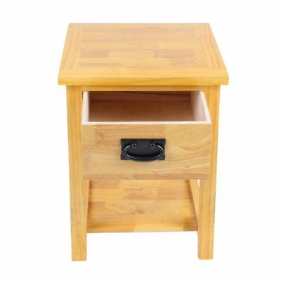 Oak Bedside Table/Light Oak Bedside Cabinet/Solid Wood/1 Drawer/Brown MR SK