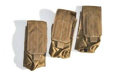 Eagle Industries (3) FSBE Issue Coyote Single/Double Mag Pouch  RECON SOF