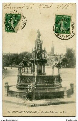 CPA-Carte postale-France -  Clermont Ferrand - Fontaine d'Amboise -1918 (CP2290)