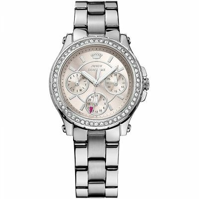 Juicy Couture 1901104 Pedigree Silver Stainless Steel Ladies Watch RRP £165 WoW