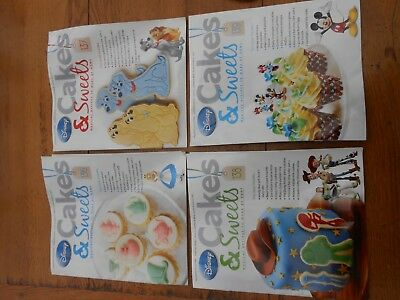 4 x Disney Cakes and Sweets Magazine Number 136 to 139 (used magazines only)