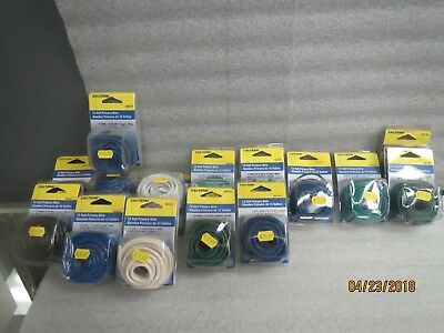 Calterm 12 Volt Primary Wire 10,12,14,16 & 18 AWG-NEW LOT of 17 Packs