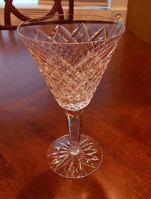 """Waterford Crystal """"templemore"""" Pattern Water Goblet Glass (S) 7"""" Tall Excellent"""