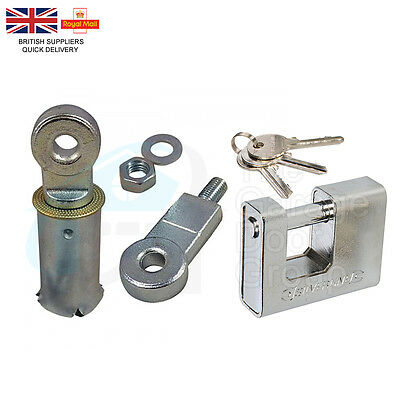 Ground Lock And Heavy Duty Padlock - For Industrial Roller Shutter Garage Doors