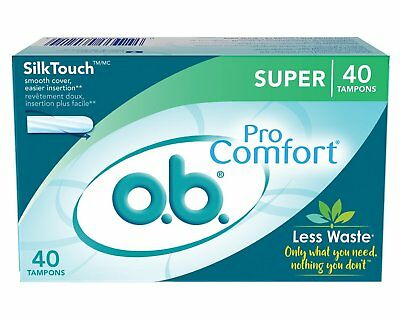 O.B. Pro Comfort - Applicator Free Digital Tampons, Super - 40 Count (Pack Of 6)