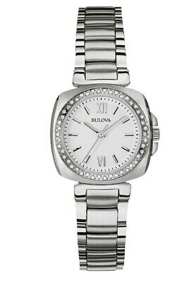 Bulova Women's 96R200 Quartz Diamond Accents Silver-Tone Bracelet 26mm Watch
