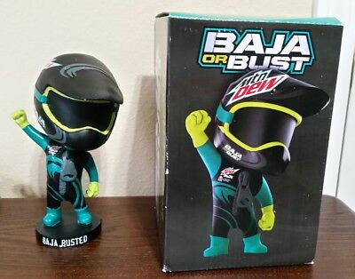 MOUNTAIN DEW Baja Blast BAJA OR BUST Bobblehead TACO BELL Original IN BOX Rare!