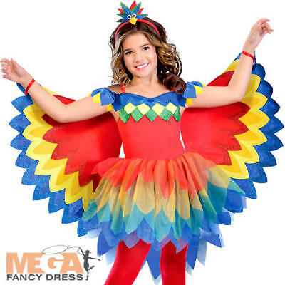 Pretty Parrot Fairy Girls Fancy Dress World Book Day Anime Kids Childs Costume