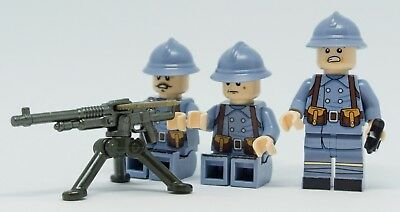 Custom ww1 minifigure, BrickArms, French company Figuren aus LEGO® Teilen