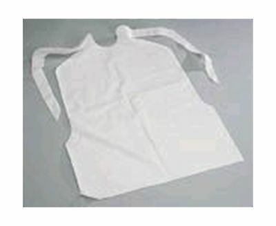 Disposable Plastic Bibs with Crumb Catcher - Light Weight (Case of 500)