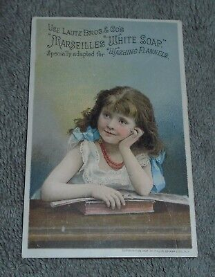 Marseilles White Soap Trade Card lautz bros. South Bend Indiana Grocer