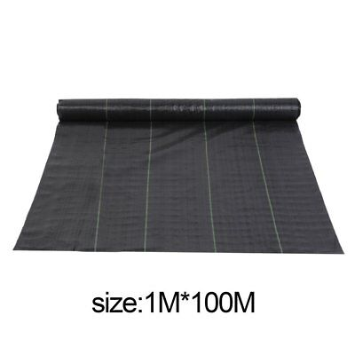 1M X 100M Weed Control Fabric Membrane Ground Cover Sheet Landscape Field MT