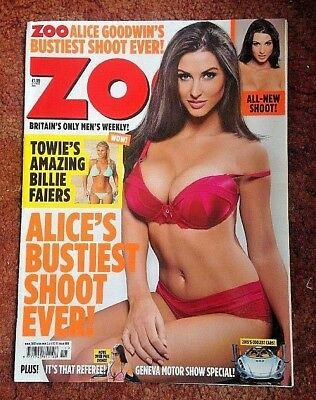 Rare Zoo Lads Magazine 13-19 Mar 2015 Alice's Bustiest Shoot Ever Good Used Co