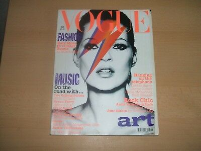 Vogue magazine May 2003 - Kate Moss In Vintage David Bowie Cover