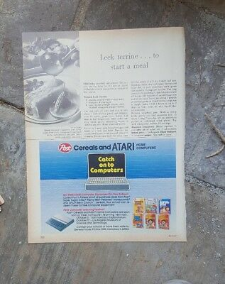 1983 print ad-Post Cereals and ATARI Home Computers-free equipment for schools