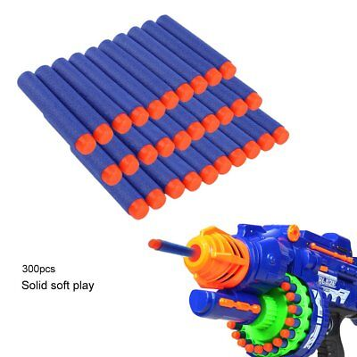 320pcs Nerf Gun Soft Refill Bullets Darts Round Head Blasters For N-Strike Toy
