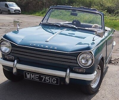 Triumph herald 1969 factory convertible 1 years MOT from 18th May 2018