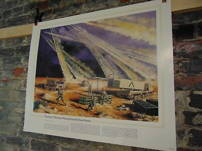 1983~National Guard Heritage Poster~The Steel Rain National Guard Desert Storm