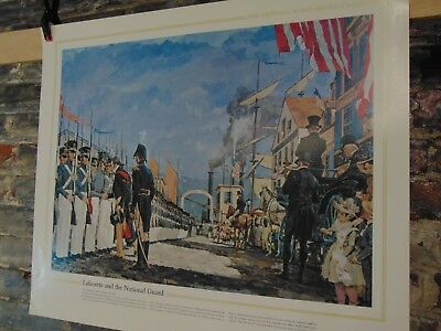 1983 ~ The National Guard Heritage Poster ~ Lafayette and the National Guard