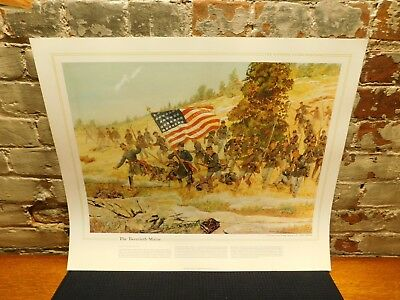 1983 ~ The National Guard Heritage Poster~ The Twentieth Maine ~