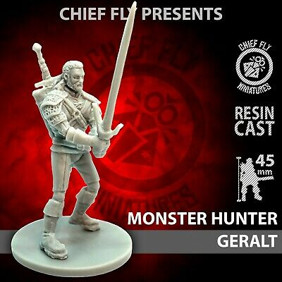 Custom Geralt 32 mm figure miniature the Witcher Survivor for Zombicide