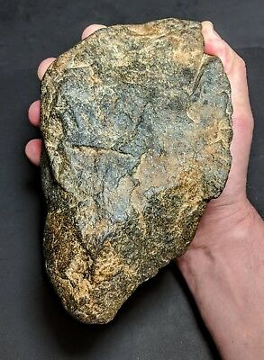 "Early Acheulian, Giant ""Transitional"" Mode 1-2 Proto Basalt Biface c800-700k"