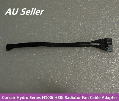 Corsair Hydro Series H100i H80i Radiator Fan Cable Adapter Dual 4Pin Original