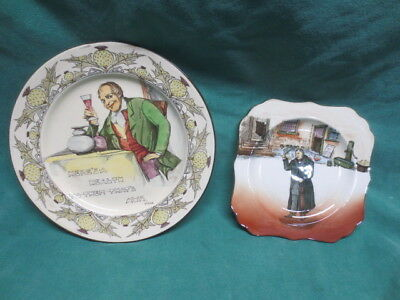 2 Royal Doulton Plates HERE'S A HEALTH TO THEM THAT'S AWA-Mr Squeers