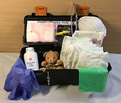 Daddy's Survival / Emergency Tool Box Nappy Kit