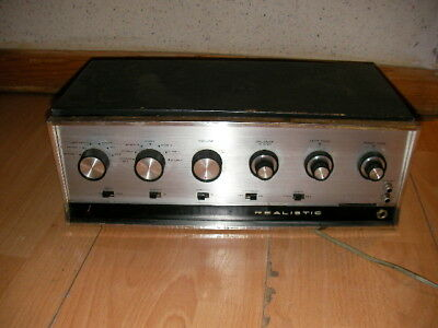 Realistic Model 212 Rare Stereo Tube Preamp Made In Usa