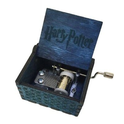Harry Potter Engraved Wooden Hand-cranked Music Box Crafts Toys Gifts Collection