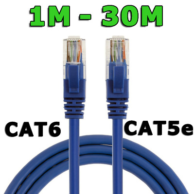 Long Ethernet Network LAN Cable Data Patch Lead CAT6 1000Mbps 1m 2m 3m 5m 10m