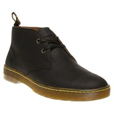 New Mens Dr. Martens Black Cabrillo Leather Boots Chukka Lace Up